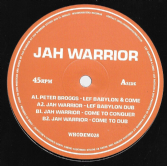 Peter Broggs - Lef Babylon & Come / Jah Warrior - Dub (Whodemsound) 10""